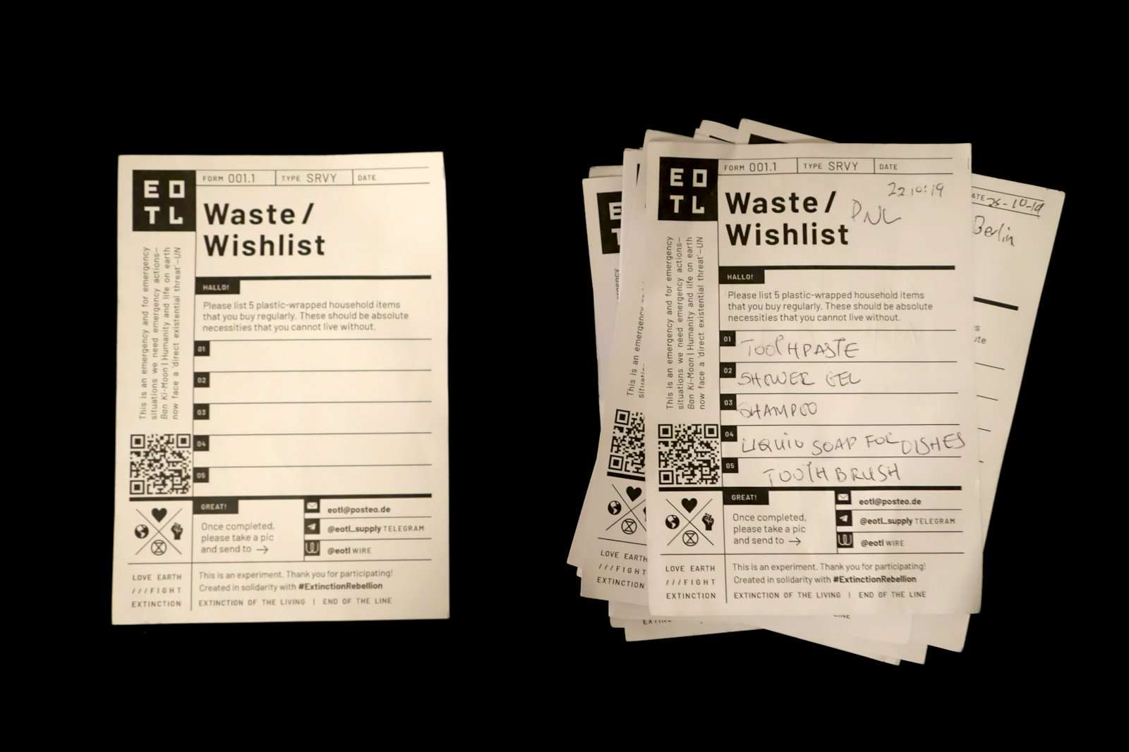 5 Essential Items - Waste/wishlist